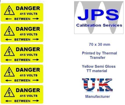 Électrique étiquettes 10 danger 415V entre 70 x 30mm jpslabel 14d