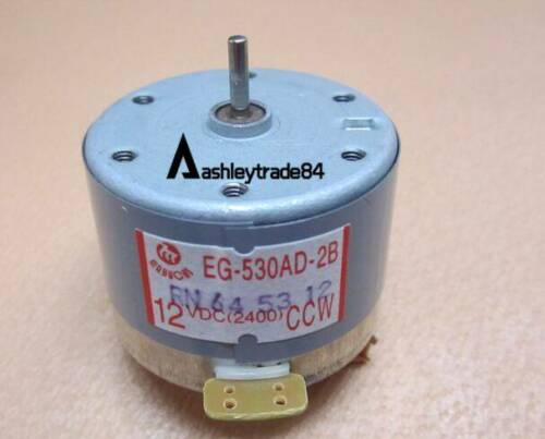 DC 12V CCW 2400RPM EG-530AD-2B Recorder Motor Audio Spindle Motor for Tape Deck