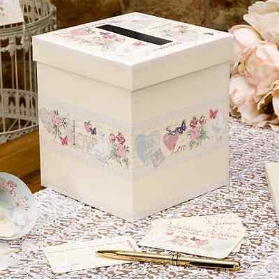 Briefbox / Geschenkbox - Gästebuch Hochzeit 'Romantic Love' 15 x 15 x 17 cm