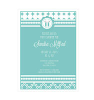 Something Blue Personalized Bridal Wedding Shower Invitations - Set Of 16