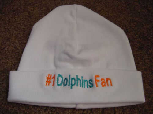 Miami Dolphins Football Baby Newborn Hospital Hat  Beanie Cap