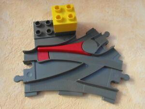Lego-Duplo-Chemin-de-fer-doux-ancien-gris-avec-pierre