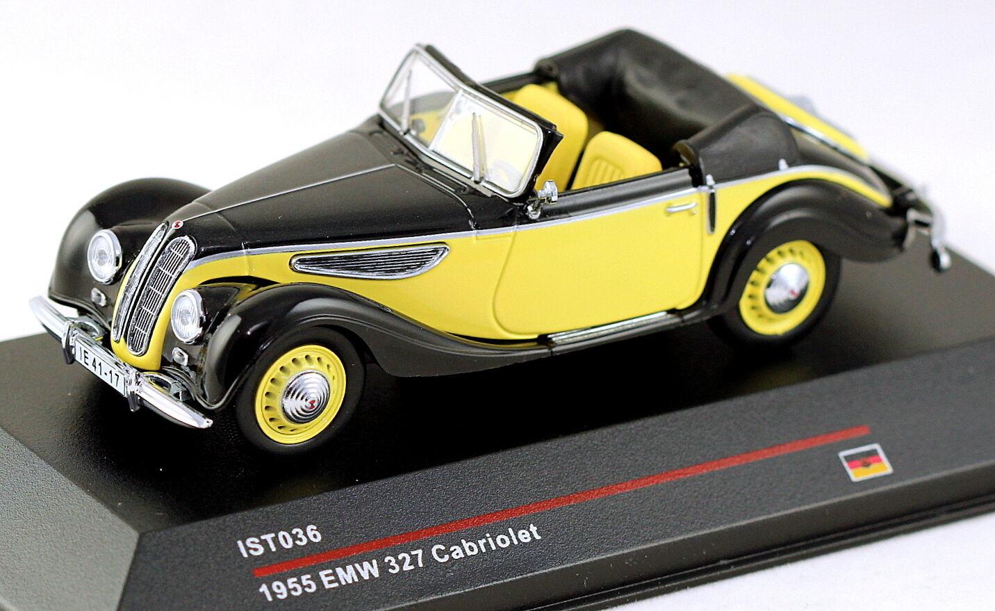 1 43 escala ist ist ist Modelos IST036 EMW 327 1955 Negro y Amarillo MIB 2ff436