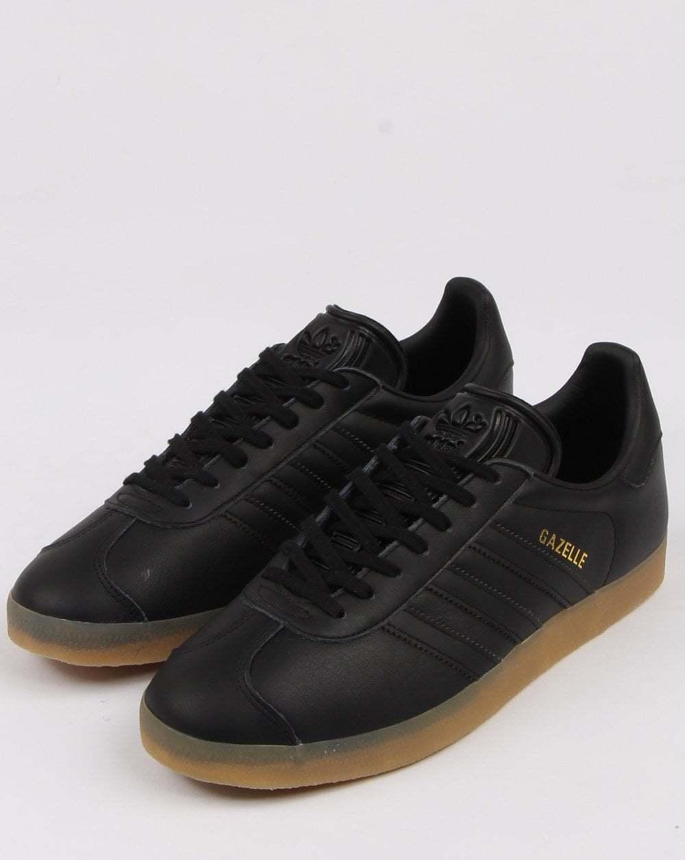 Adidas Originals Gazelle cuir cuir cuir - Noir f62c0d