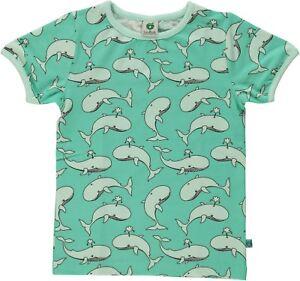 dccaa477fc53 SMAFOLK T-Shirt allover Wal Print grün whale 92 98 104 110 116 122 ...