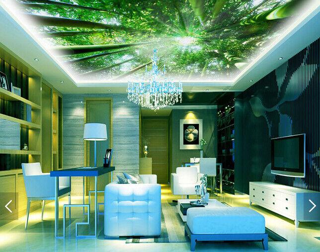 3D Sun Bamboo 735 Ceiling WallPaper Murals Wall Print Decal Deco AJ WALLPAPER GB