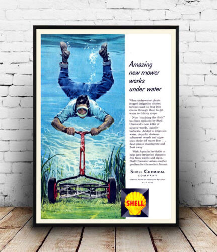 Reproduction. Amazing new Mower : Vintage advertising Wall art poster