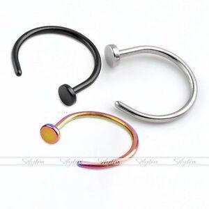 2pcs-316L-Surgical-Steel-Nose-Hoop-Ears-Tragus-Lip-Loop-Ring-Body-Piercing