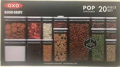 Oxo Good Grips 20 Piece Food Storage Pop Container Set