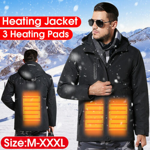 Men Electric Heated Jacket Warm Heating Coat Winter Body Warmer Clothes USB AU