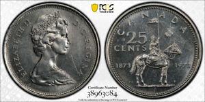 """Canada Quarter 25 Cents 1973 KM# 81.2 """"Large Bust""""  """"Regular Strike"""""""