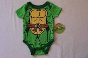 NEW Baby Boys TMNT Bodysuit 3-6 Mo Creeper Outfit 1 Piece Ninja Turtles Costume