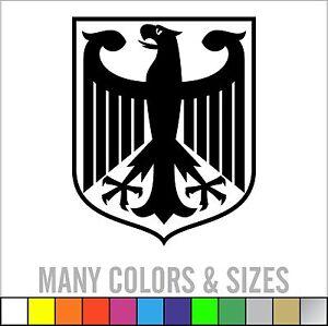 German Eagle Crest Deutschland Germany Flag Panzer Decal Sticker ...