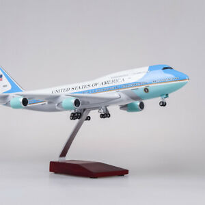 1-150-Scale-Resin-US-Air-Force-One-B747-Boeing-747-Plane-Model-Airplane-Airline