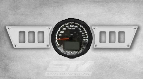 WHITE Dash Panel Set for Polaris RZR XP 1000