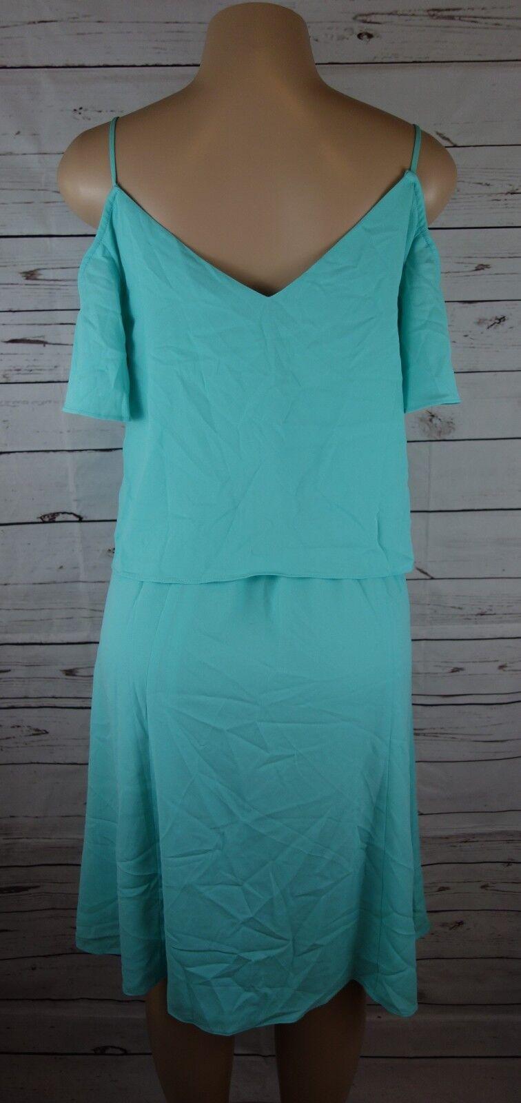 NEW Cooper and Ella Women's Selin Cold Shoulder Shoulder Shoulder Dress Sea Foam bluee Med  198.00 3525b0