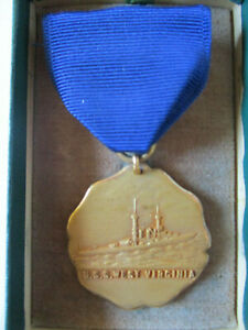 1935-US-Navy-USS-West-Virginia-Competition-Award-Medal-Ship-Sunk-Pearl-Harbor