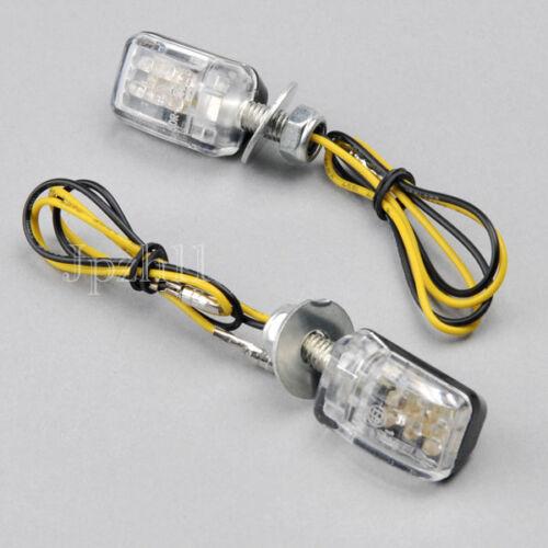 2x6 DEL Mini Moto turn signal light indicator Pour Kawasaki Honda J25