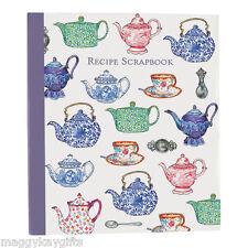 Recipe Scrapbook - Tea Pots Design - Organiser - Binder - Book