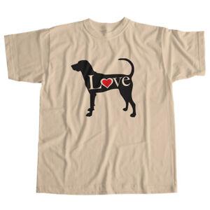 I-Love-American-Foxhound-English-Hound-Dog-Pet-Lover-Puppy-Unisex-Tee-T-Shirt