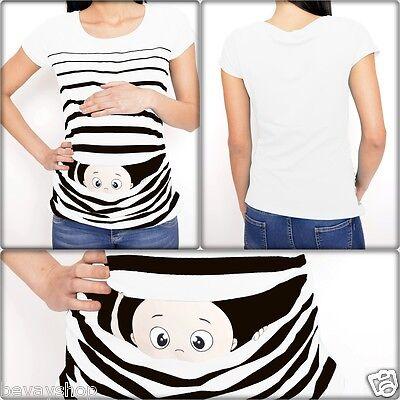 Umstandsmode Schwangerschaft MutterschaftsT-Shirt mit Süßen Motiv Gelb k1 Bevay