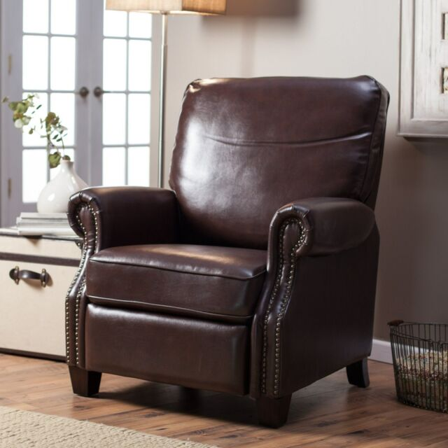 Barcalounger Ridley Ii Leather Recliner With Nailheads
