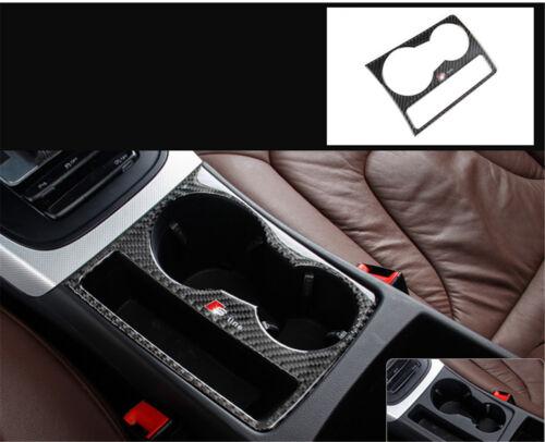 Carbon Fiber Interior Water Cup Holder Dashboard Trim for AUDI A5 A4 L15