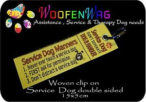 NEW-assistance-dog-WOVEN-Service-Dog-Manners-clip-on