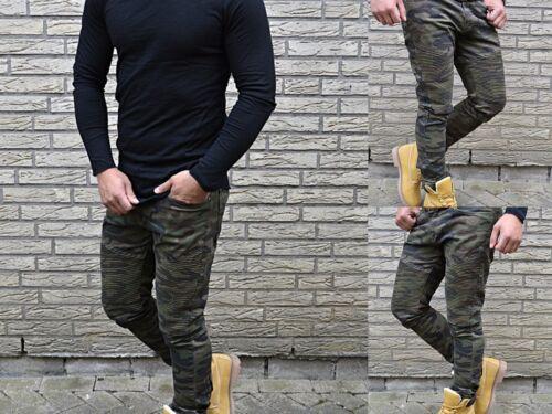 Camouflage Jeans Militaire Nato Biker Tube Label Pantalons Army Ghettostreet Skinny rqvCr