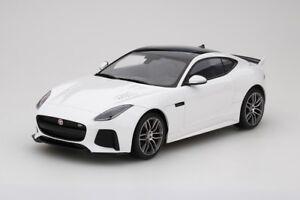 Jaguar Type F Svr En Glacier Blanc 1:18 Echelle Par Topspeed