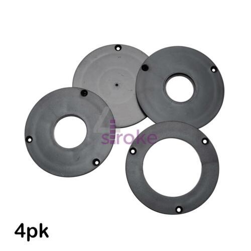 Routeur plaque insert 4Pk compatible avec phénoliques /& Aluminium Routeur plaques