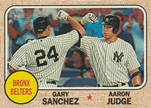 ON ****FREE SHIPPING**** AARON JUDGE TOPPS HERITAGE CARDS SAVE $3.50