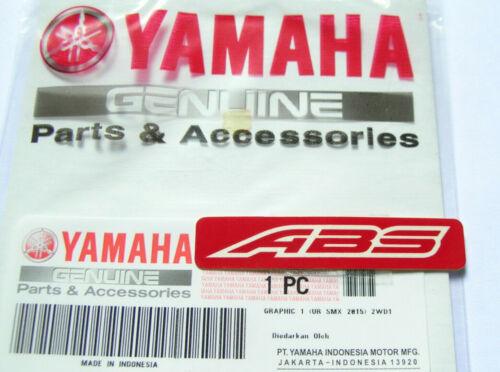 ORIGINAL Yamaha ABS Aufkleber-Schriftzug-Sticker-Logo-Emblem-Decal-Brake-R3-ROT