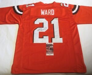 new style 9dcfd 7c5f6 Denzel Ward Autographed Cleveland Browns Orange Jersey JSA ...