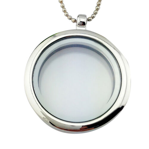 Special  Living Memory Glass Round Locket Charms Necklace Pendant