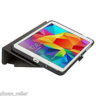 New Speck StyleFolio Black Flip Cover Stand Case Shell Samsung Galaxy Tab 4 10.1