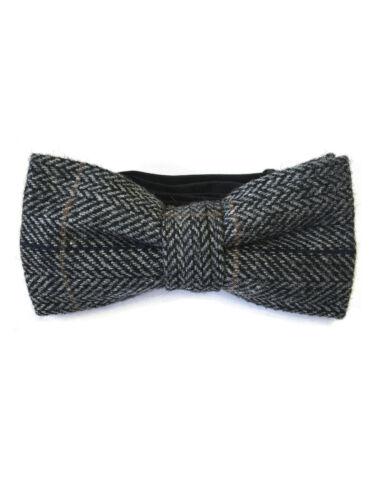 2XL Tailles S Hommes Mélange Laine Tweed Carreaux Gris Chevrons Gilet //