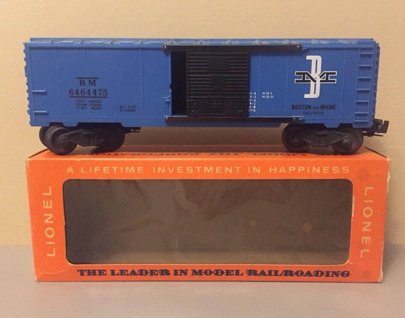 Lionel Trains Trains Trains O Scale Model Train 027 6464-475 Boston & Maine Boxcar Type IV 1b8415