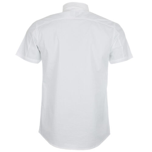 POLICE 883 Milano da Uomo Bianco strager Camicia S 2 NUOVO con etichetta NUOVISSIMO SS Camicia Top M