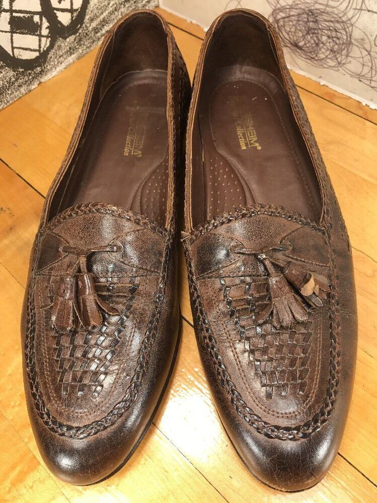 Florsheim Designer Collection Brown Men's Leather Tassel Loafers Men's Brown 11.5B fe3dbc
