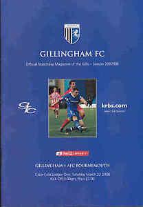 2007-08-GILLINGHAM-V-BOURNEMOUTH-22-03-2008-League-1-Excellent