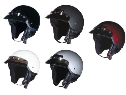 Z1R Adult Solid Drifter Street Motorcycle Half 1//2 Helmet All Colors XXS-2XL