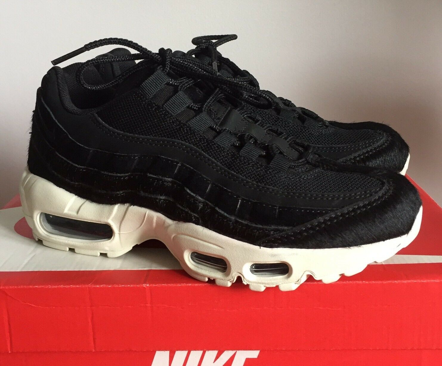 Womens Nike Air Max 95. UK Size 4. Black Pony Hair. Worn Once