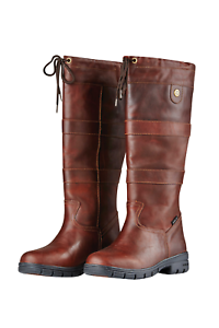Dublin River Grain HBR Waterproof Leather Country Boots - Red Brown