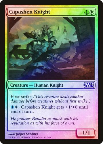 M14 NM-M White Common MAGIC MTG CARD ABUGames Capashen Knight FOIL Magic 2014