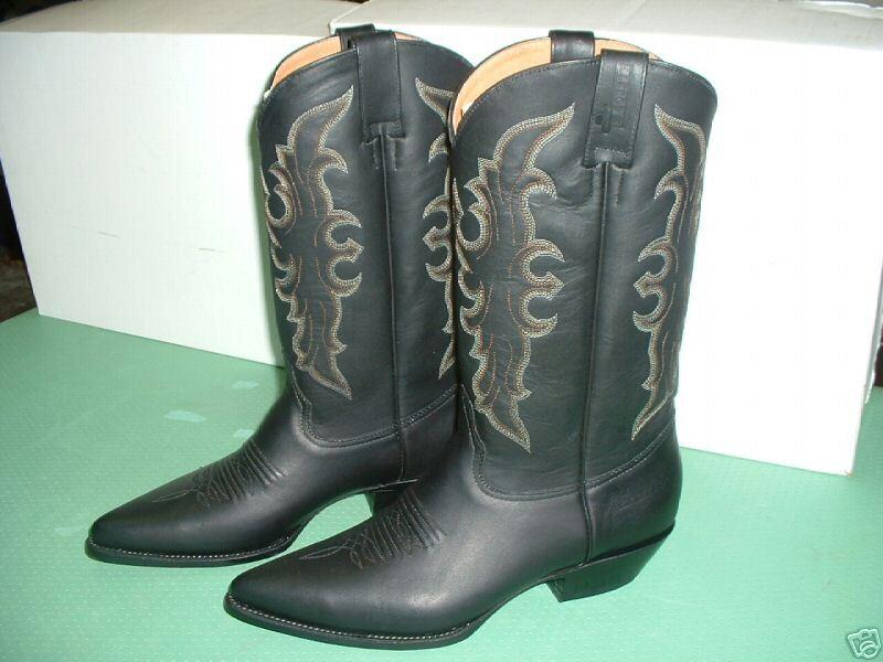 Grandes zapatos con descuento SANTIAGUE BOTTE WESTERN COUNTRY TOUT CUIR NOIR 39 + CADEAU NEUF