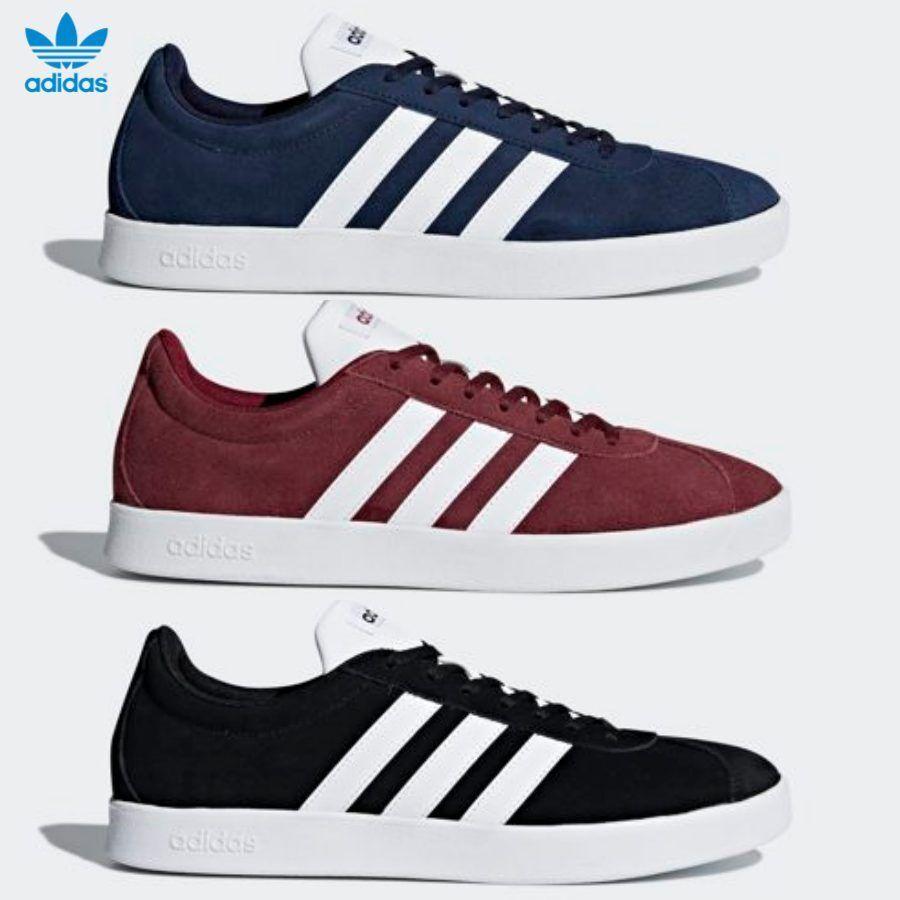 Adidas Original VL Court 2.0 Runner shoes Running Black Red Navy DA9854 SZ 4-12