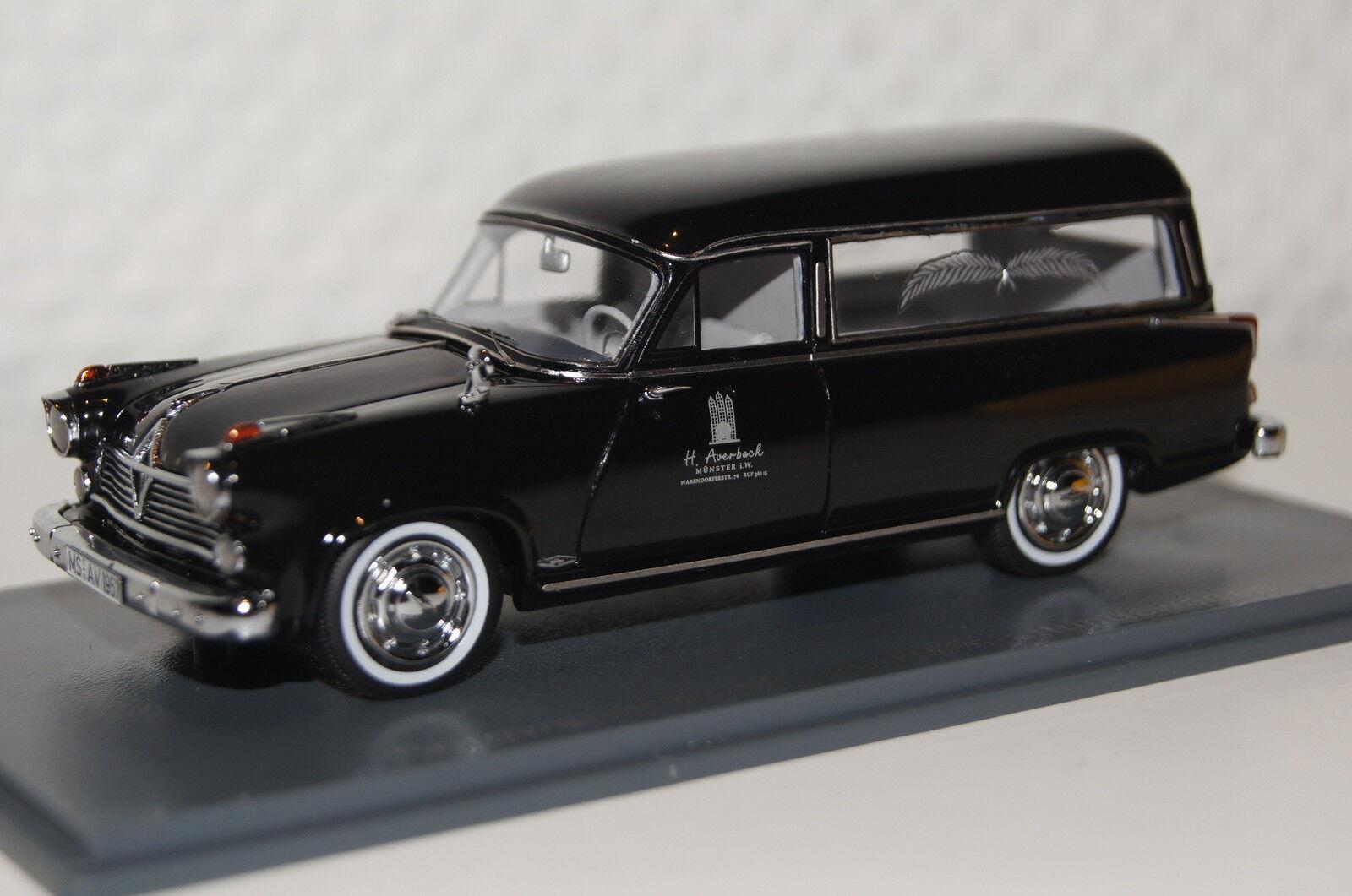 BORGWARD HANSA 2400 inhumation voiture Noir 1 43 Neo NOUVEAU & OVP 49520