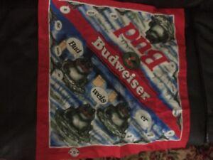 Vintage-Budweiser-Bandana-Handkerchief-By-Anheuser-Busch-1995-Frogs