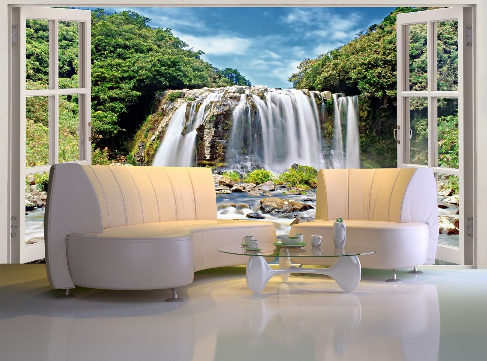 Blau Bassin Falls  Photo Wallpaper Wall Mural DECOR Paper Poster Wall art
